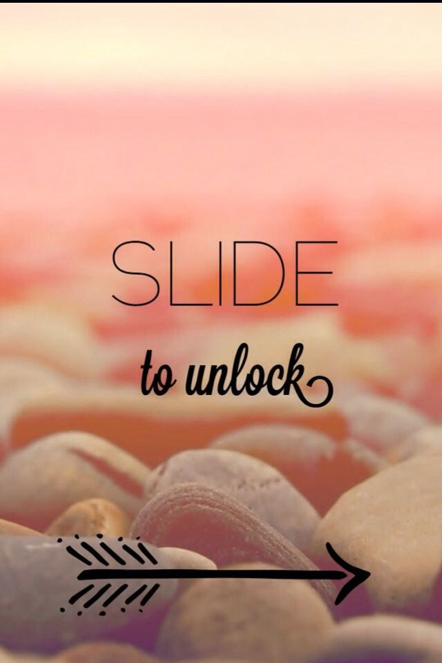 iPhone background slide to unlock