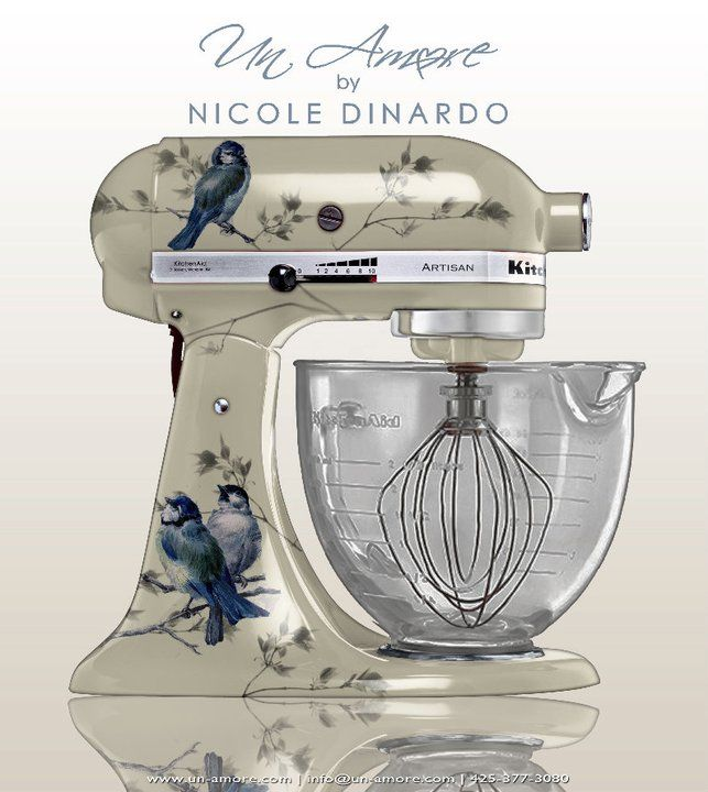 Would'nt a blue and white Kitchen Aid be perfect!. - Ohhh!