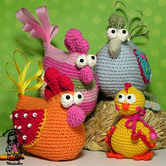 crochet patrón de gallina