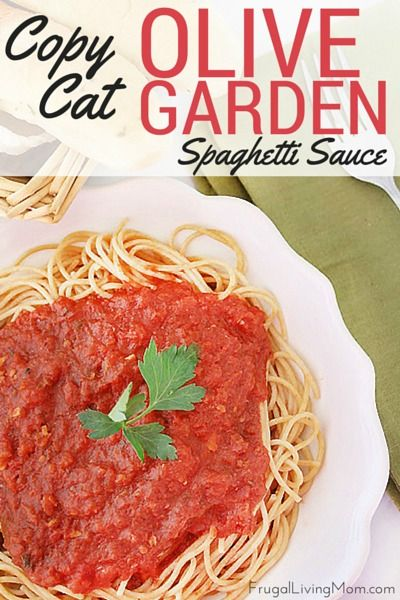 Want to head out to Olive Garden but your wallet is a bit light? Take a little time to make up this awesome Copycat Olive Garden Spaghetti Sauce. You can use it on regular or gluten free pasta, or zucchini noodles, make lasagna or any other Italian dish with red sauce that you love!