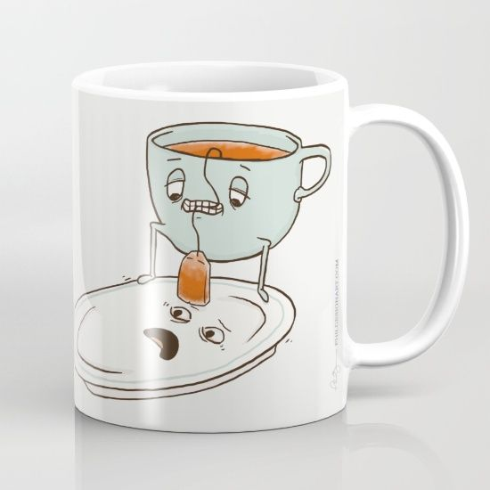 Tea Baggin' Mug by Phil Jones. Worldwide shipping available at Society6.com. Just one of millions of high quality products available.