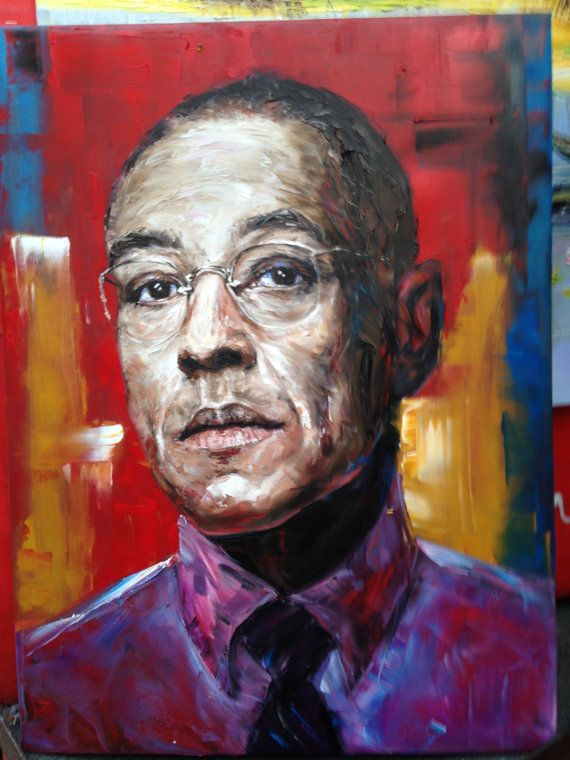Gus Fring Walter White Breaking Bad original oil painting on canvas, 18x24 inches large wall art