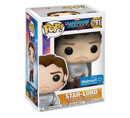Funko POP Guardians of The Galaxy Vol 2 Star-Lord #261 Figure Walmart Exclusive