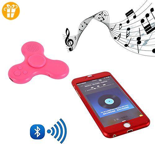 Kasit LED Light Mini BT Speaker Music Fidget Toy Hand Spinner EDC Hand Spinner for Kids Adult Funny Fidget Toy(USB Cable Not Included) (Rosa) - Fidget spinner (*Partner-Link)