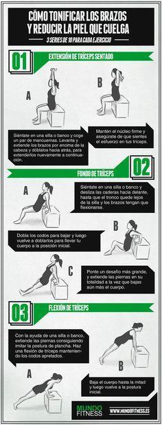 3 ejercicios sencillos para tonificar los brazos de murciélago