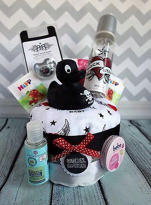 Windeltorte Rockabella Rock Rocker Mädchen Baby Geschenk zur Geburt Babyparty