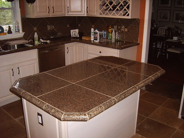 Best 25 granite tile countertops ideas on pinterest grey granite countertops grey - Kitchen countertops ideas ...