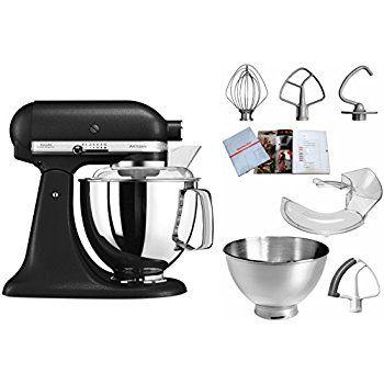 Amazon.de: KitchenAid 5KSM175PSEBK, ARTISAN Küchenmaschine mit Profiausstattung, GUSSEISEN SCHWARZ