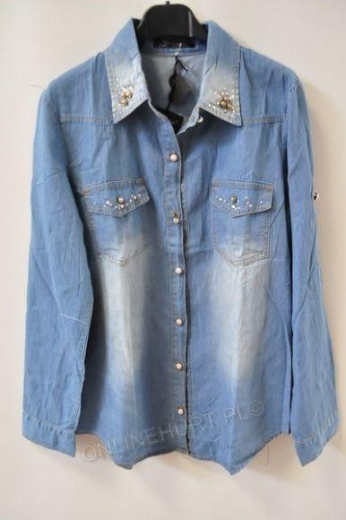 Koszula Damska Jeans W8361  _A9  (S-2XL)
