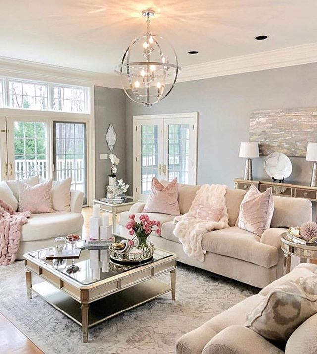 Pin By Paige Brooks On Home Living Room Inspiration Glam Living Room Beautiful Living Rooms Beautiful small living room images