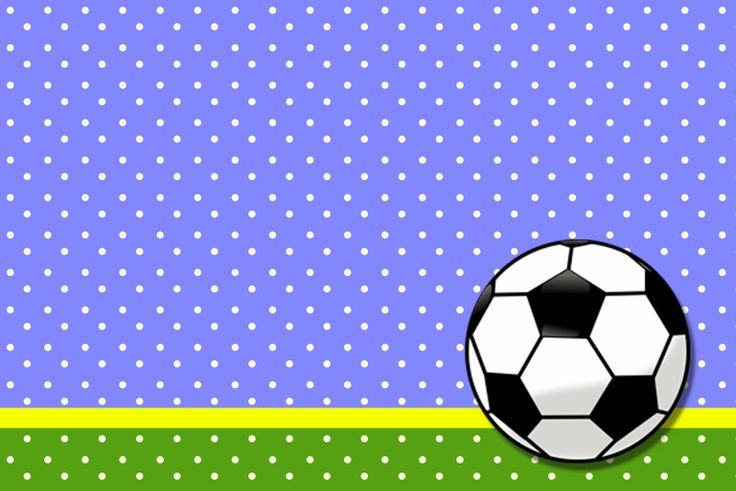 Fútbol: Tarjetas o Invitaciones para Imprimir Gratis.