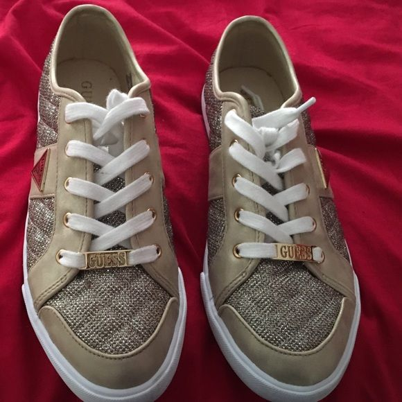 Guess Sparkle Tennis Shoes Sparkle Sparkle in stylish GUESS shows w two gold lapels. Guess Shoes Sneakers