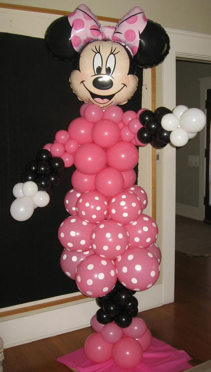 17 best images about balloon artistry on pinterest for Baby minnie decoration ideas