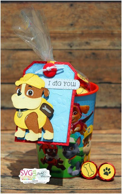 PAW Patrol Rubble birthday party favor or goodie bag