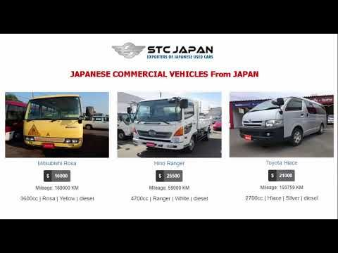 Import Japanese Commercial Coasters, Hiaces & Trucks from STC Japan