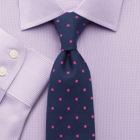 Lilac twill puppytooth non-iron Slim fit shirt | Men's dress shirts from Charles Tyrwhitt | CTShirts.com