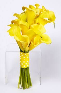 Yellow calli lily bouquet