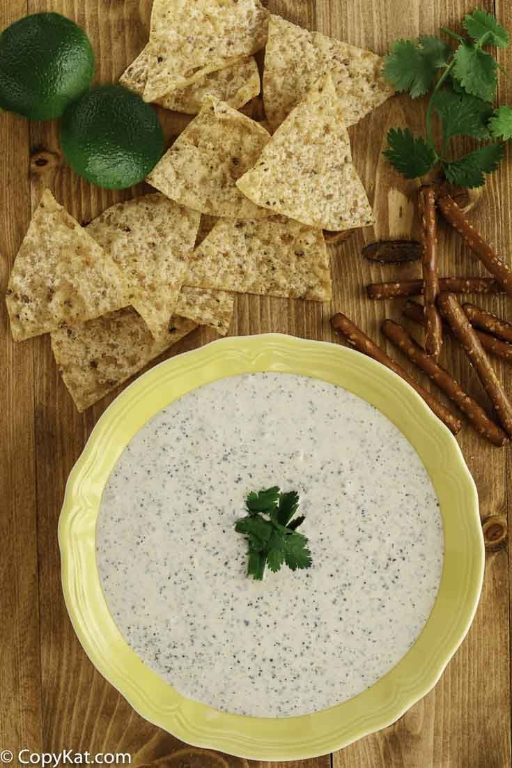 Chuys Creamy Jalapeno Dip is an easy copycat recipe to prepare. You can prepare this dip in less than 5 minutes for this restaurant recipe recreation.