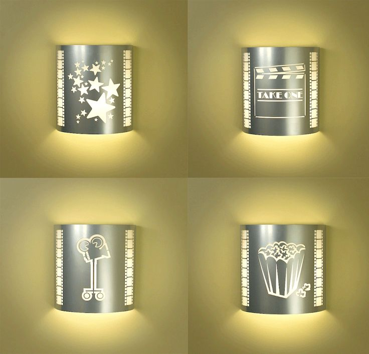 Four or More Silver Home Theater Sconces (with Filmstrips ...