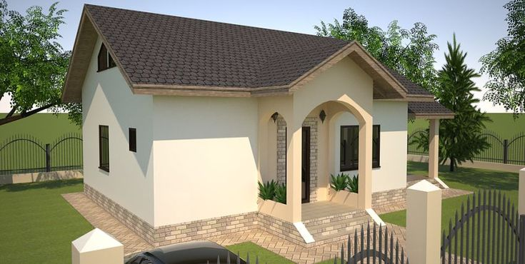 Proiecte de case mici pe un singur nivel frumoase