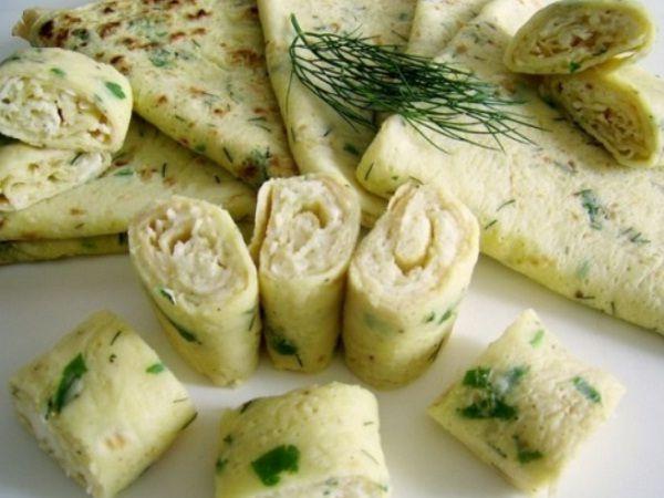 Cukkinis sajtos palacsinta