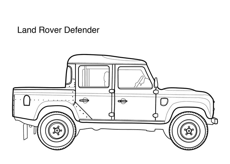 car coloring pages for kids land rover defender  printable