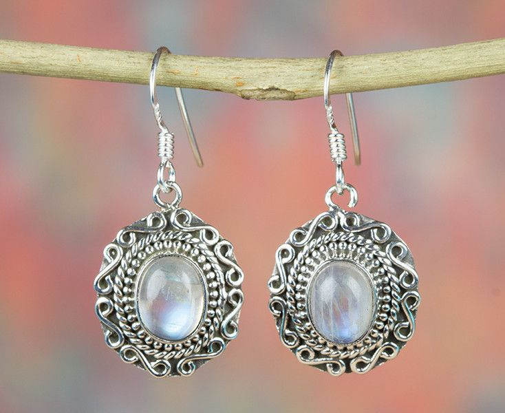 Other – Rainbow Moonstone Earring, 925 Sterling Silver – a unique product by…