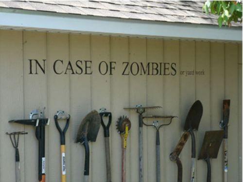 Great #DIY garden tool display!
