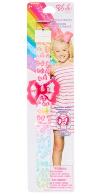 JoJo Siwa Bow Print Touch LED Watch