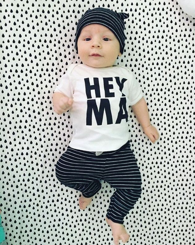Hey Ma, Modern Baby, Boy, Girl, Unisex, Gender Neutral, Infant, Toddler, Newborn, Organic, Bodysuit, Outfit, One Piece, Onesie®, Onsie®, Tee, Layette, Onezie®