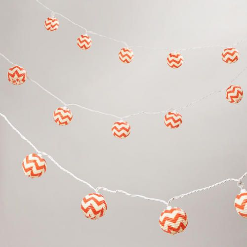 One of my favorite discoveries at WorldMarket.com: Chevron Paper String Lights