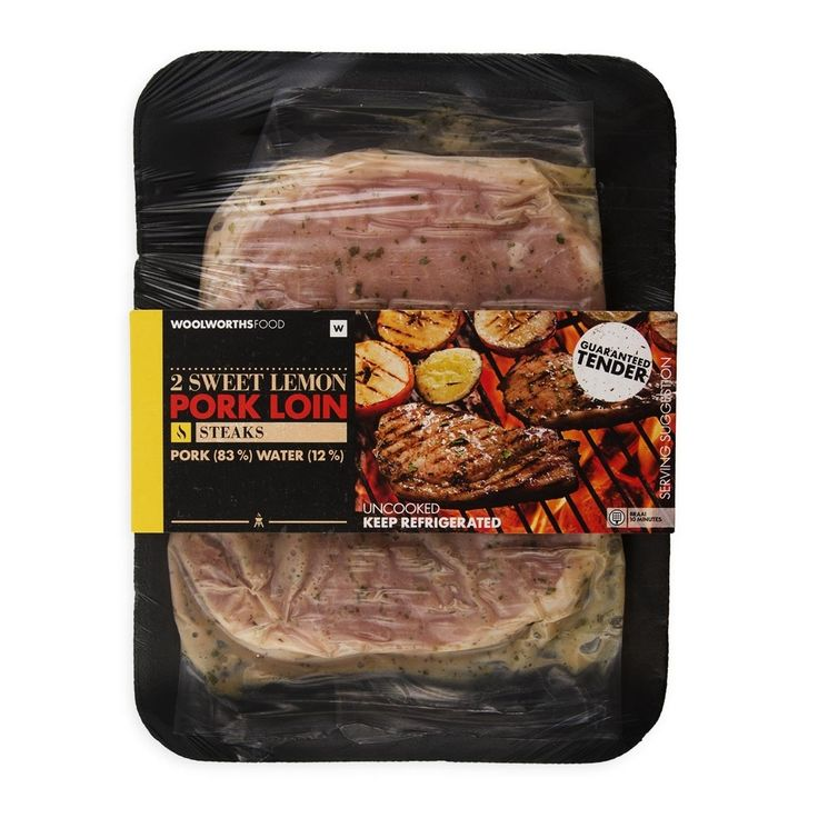 Sweet Lemon Pork Loin Steaks Avg 250g