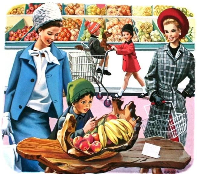Martine fait ses courses marcel marlier vintage food - Martine fait la cuisine ...