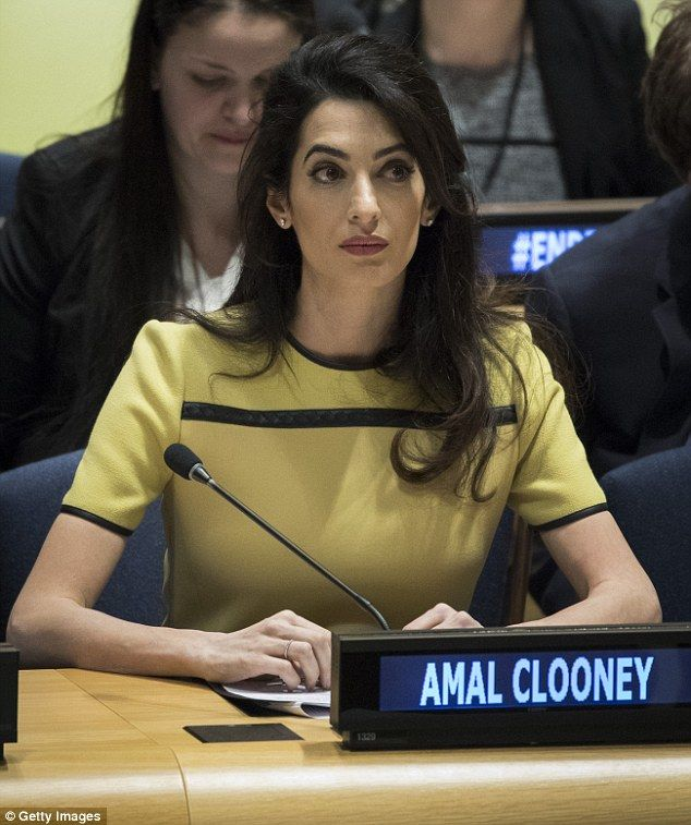 george clooney's address to the un Amal clooney is being lauded for her powerful thursday address to the  often  acknowledged as george clooney's token muslim wife and a leftist  not  criticizing the un for their indifference to isis or their weak efforts on.