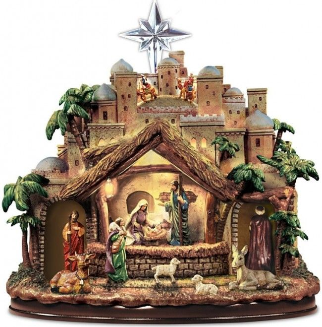 Following the Star Nativity Sculpture Lights