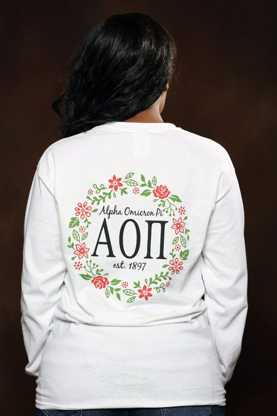 Alpha Omicron Pi Vine Long Sleeve - AOPi Letter Shirt