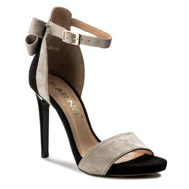 Szandal Karino 2496 032 P Czarny Szary Shoes Sandals Heels