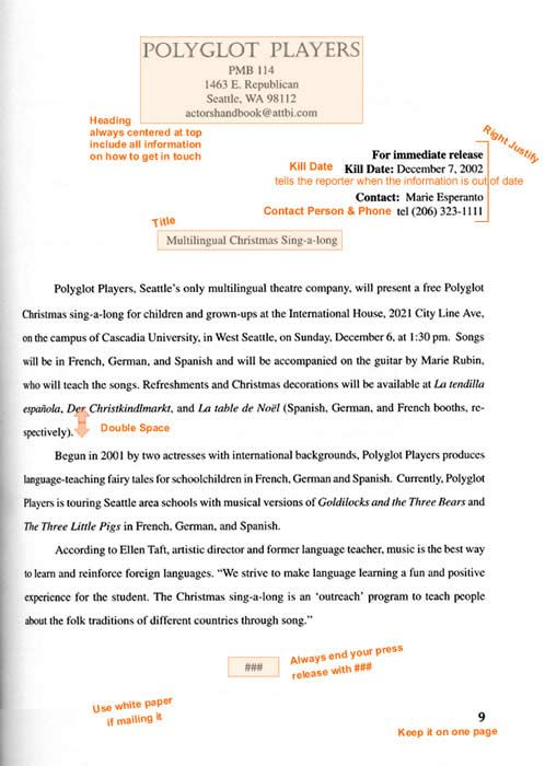 Format And Example Of A Press Release Press Release Template Press Release Example Press Release
