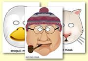 Lighthouse Keeper Role Play Masks, FREE download