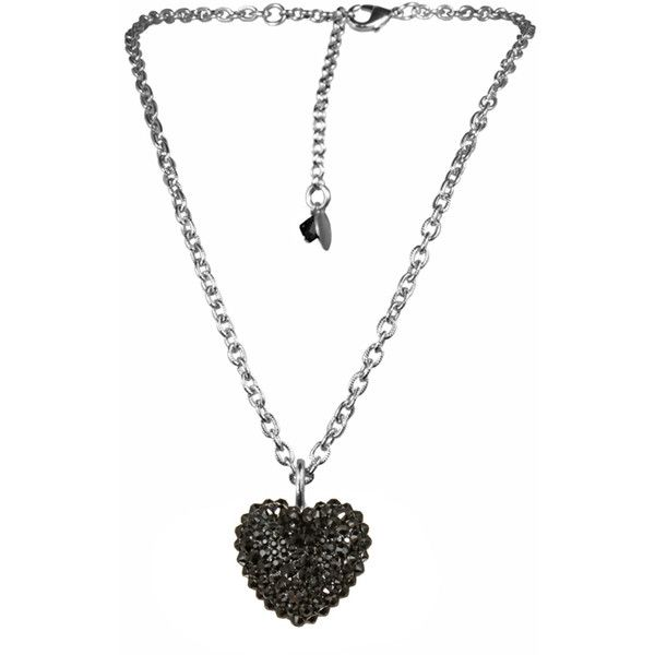 TARINA TARANTINO Iconic Crystal PavÉ Heart Necklace ($113) ❤ liked on Polyvore featuring jewelry, necklaces, accessories, heart shaped pendant necklace, pave heart necklace, heart shaped necklace, swarovski crystal pendant necklace and swarovski crystal heart necklace