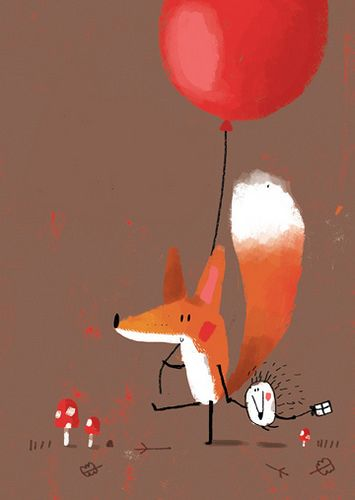 Prancing Fox & friend ★ Find more at http://www.pinterest.com/competing