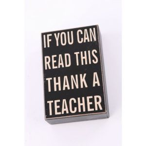 Thank a Teacher..... Wooden Block Sign