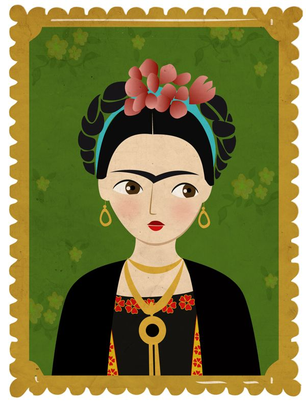 Frida inphographic by María Hesse, via Behance