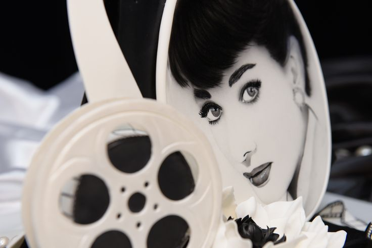 Audrey Hepburn sugar sculpture cukrárska artistika   fotografia mojej tvorby od VCup Hradec