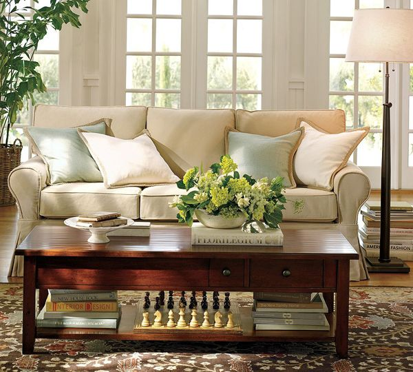 Coffee table decor all about the home pinterest for Ideas to decorate a small family room