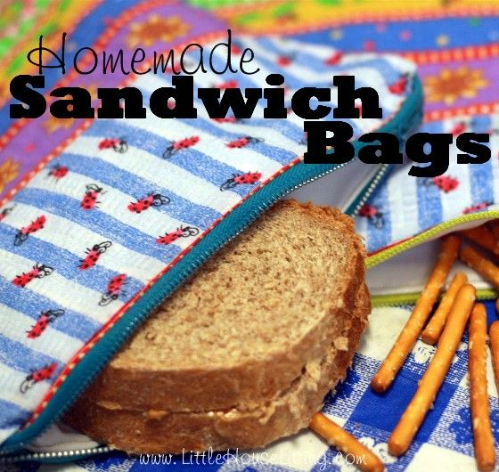 Homemade Sandwich Bags! Perfect to save money on plastic bags with school and work lunches. This is a step by step picture tutorial.