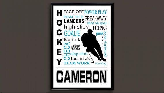 Hockey Gift Gifts Hockey Hockey Hockey Gifts by BirthdayBannerShop