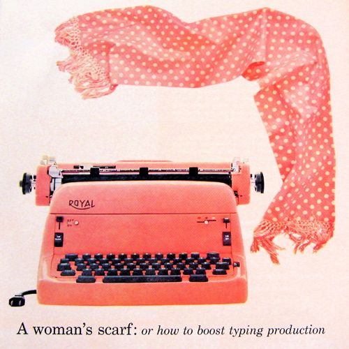Vintage Pink Royal Typewriter Ad