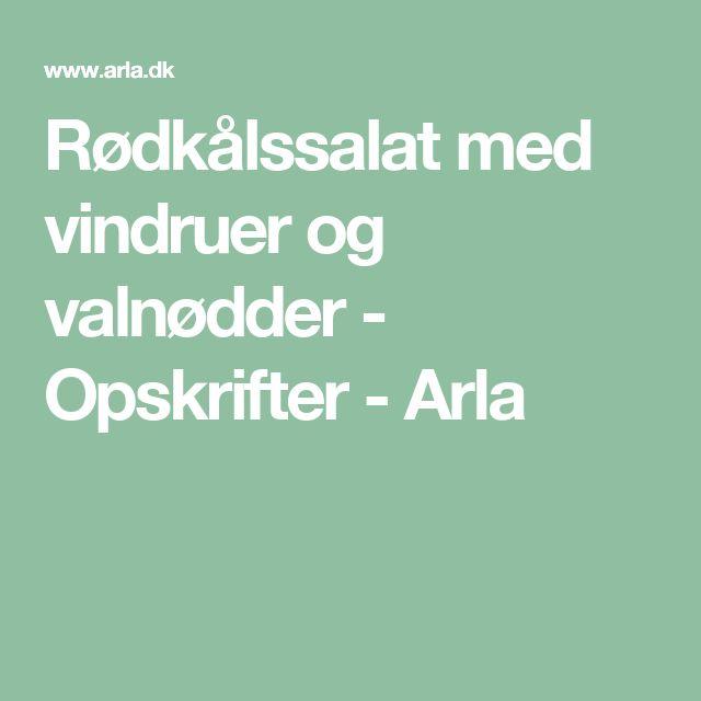 Rødkålssalat med vindruer og valnødder - Opskrifter - Arla