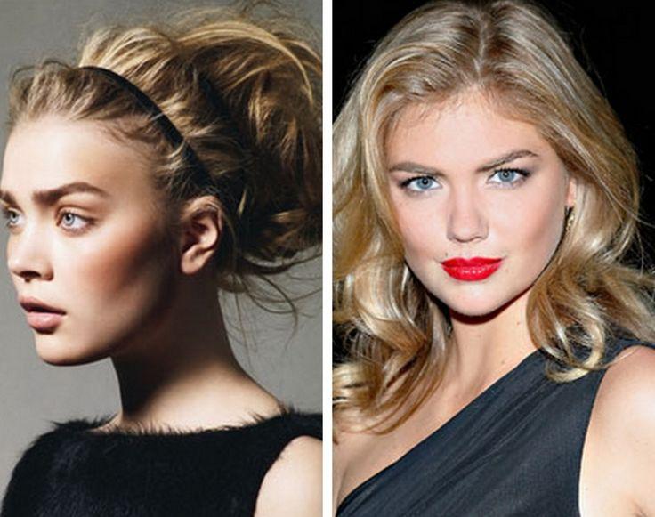 Simpel make up och rufsigt hår!